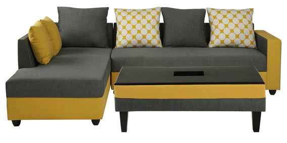 Detec™ Ralph RHS 3 Seater Sofa with Coffee Table