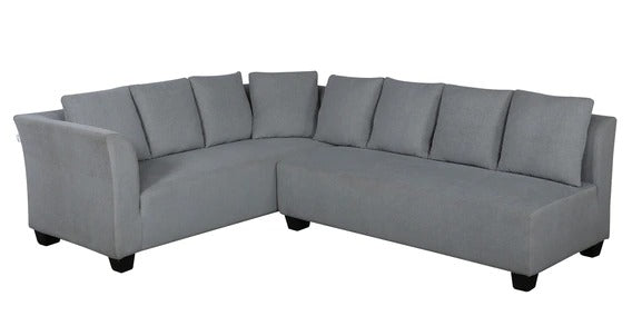 Detec™ Ralph L Shaped Sofa Set with Cushions - Grey Color
