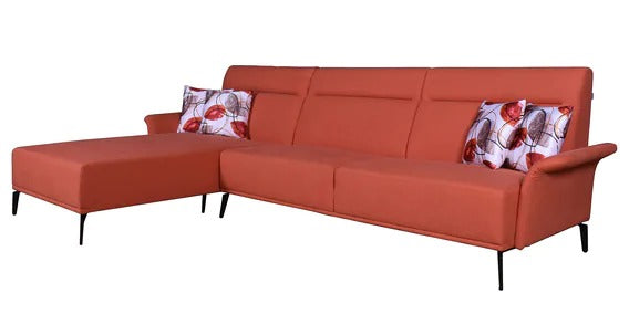 Detec™ Reinhart RHS 3 Seater Sofa with Lounger - Orange Color