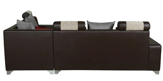 Detec™ Valter Corner Sofa - Brown & Ivory Color