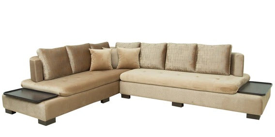 Detec™ Carolus RHS Sectional Sofa - Brown Color