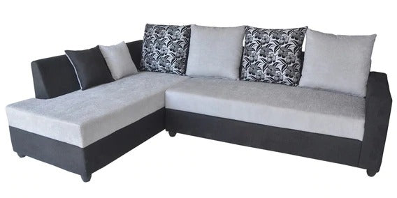 Detec™ Paul RHS Sectional Sofa - Grey & Black Color