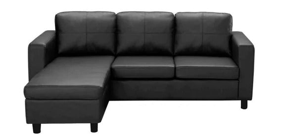 Detec™ Karsten 2 Seater RHS Sectional Sofa - Black Color