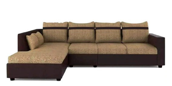 Detec™ Mirco 3 Seater RHS Sectional Sofa - Camel & Brown Color