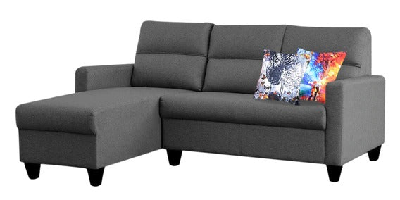 Detec™ Meinrad 2 Seater RHS Sectional Sofa - Dark Grey Color