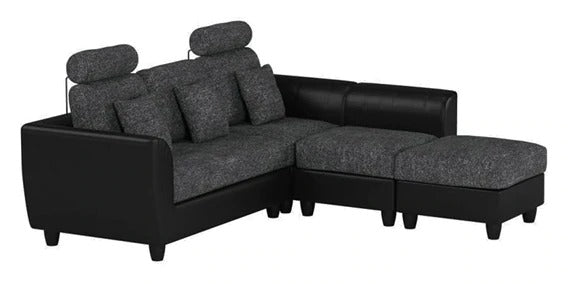 Detec™ Matthias 5 Seater Corner Sofa - Grey & Black Color