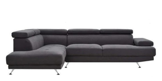 Detec™ Tiedemann 4 Seater RHS Sectional Sofa - Dark Grey Color