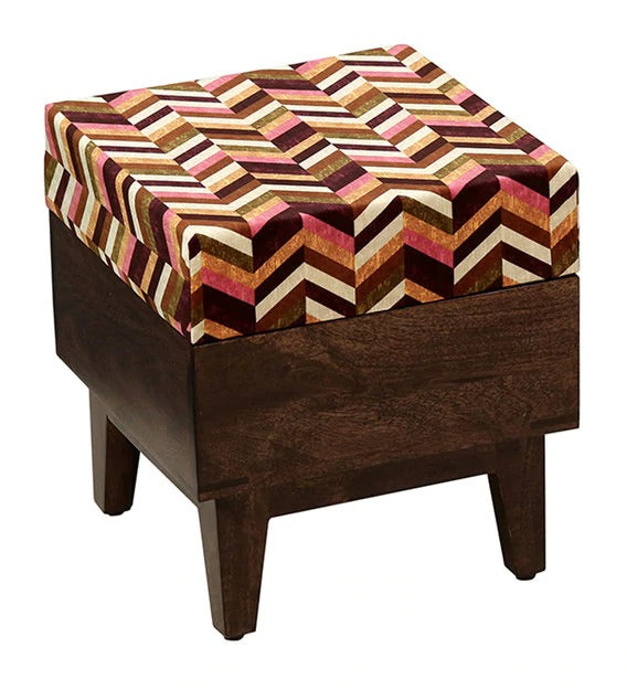Detec™ Solid Seating Stool (Set of 2) - Walnut Finish