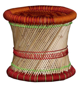 Detec™ Ethnic Handcrafted Damroo Stool - Multi Color