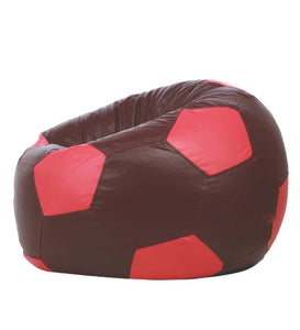 Detec™ FootBall XXXL Bean Bag with Beans in Maroon & Pink Colour
