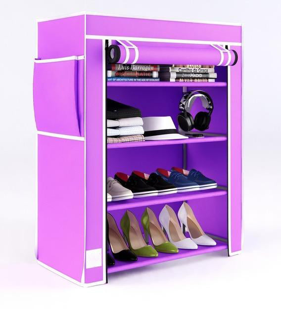 Detec™ Shoe Rack with 4 Shelves and Cover