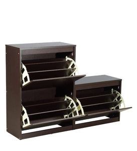 Detec™ Shoe Rack - Columbia Walnut Finish
