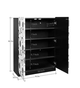 Detec™ 2 Door Shoe Cabinet with Multi-Color