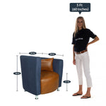 Load image into Gallery viewer, Detec™ Barrel Chair in Blue and Orange Colour