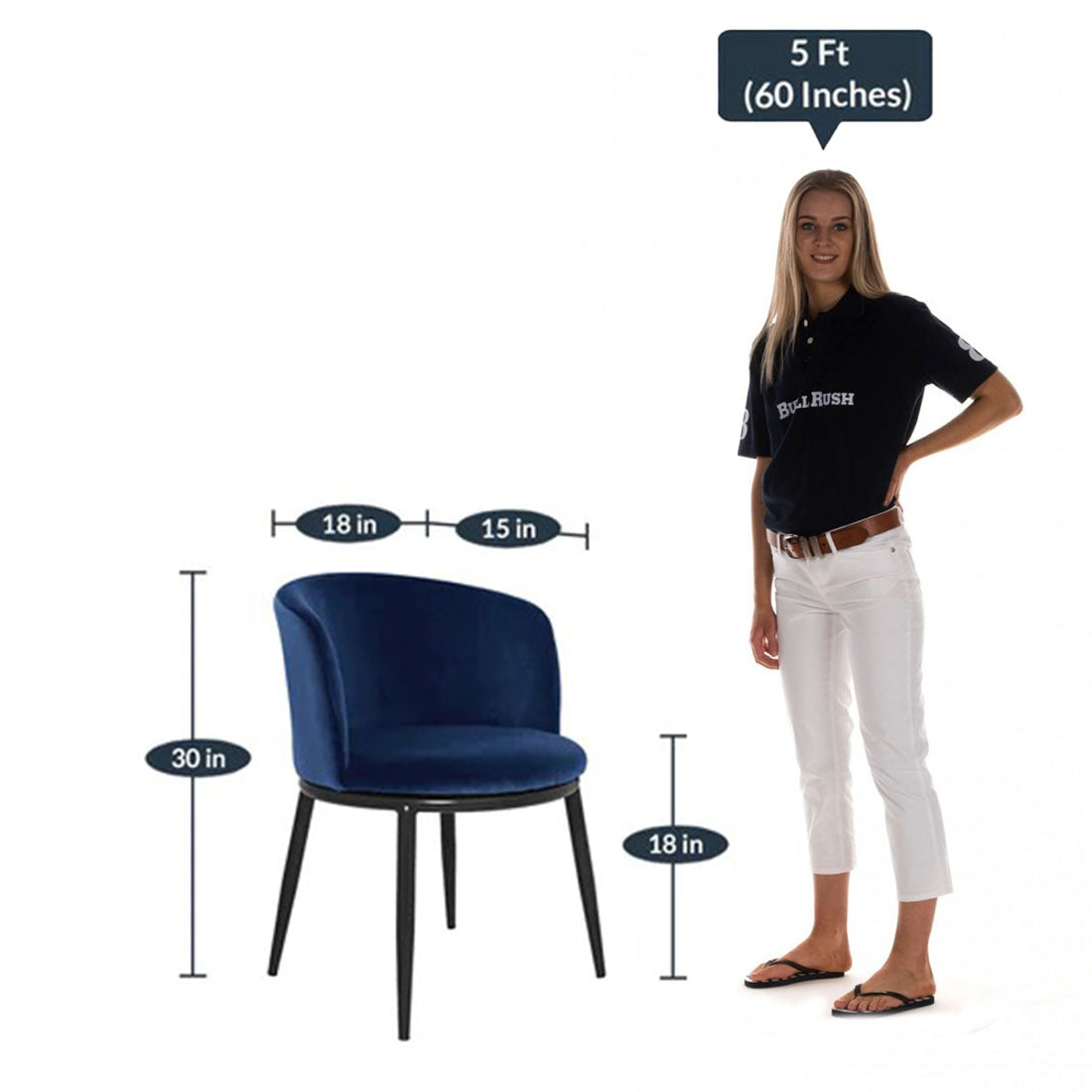 Detec™ Guest Chair in Dark Blue Colour