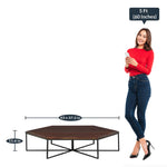 Load image into Gallery viewer, Detec™ Coffee Table Set with 6 Stools - Provincial Teak Finish