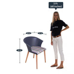 Load image into Gallery viewer, Detec™ Cafe Chair - Grey Color