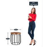 Load image into Gallery viewer, Detec™ Drum style End Table