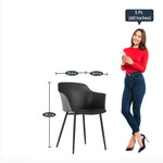 Load image into Gallery viewer, Detec™ Plastic Chair - Black Color