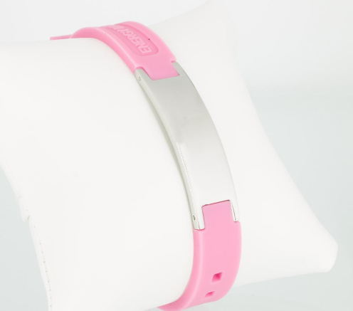 Energiearmband in silber pink