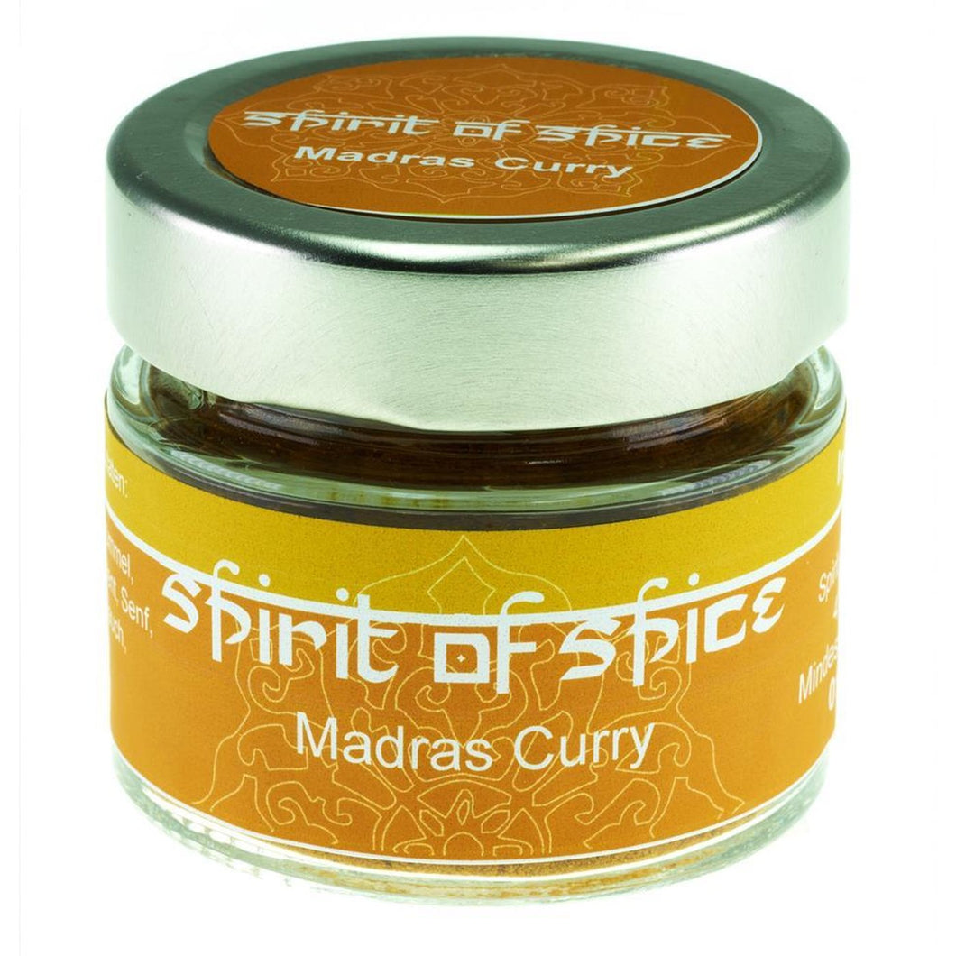 Gemahlenes Madras Curry im Glas (12,81€/100g)
