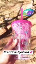 Load and play video in Gallery viewer, Glitter Tumbler Cup