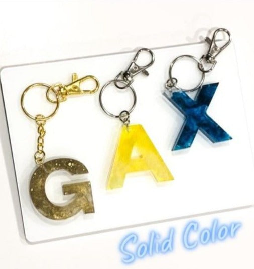 Gold, Yellow, Blue Solid Color Keychains