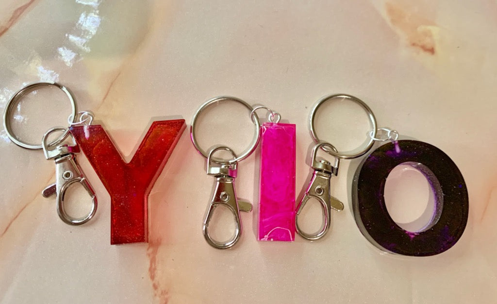 Red, Pink, Purple Solid Color Keychains