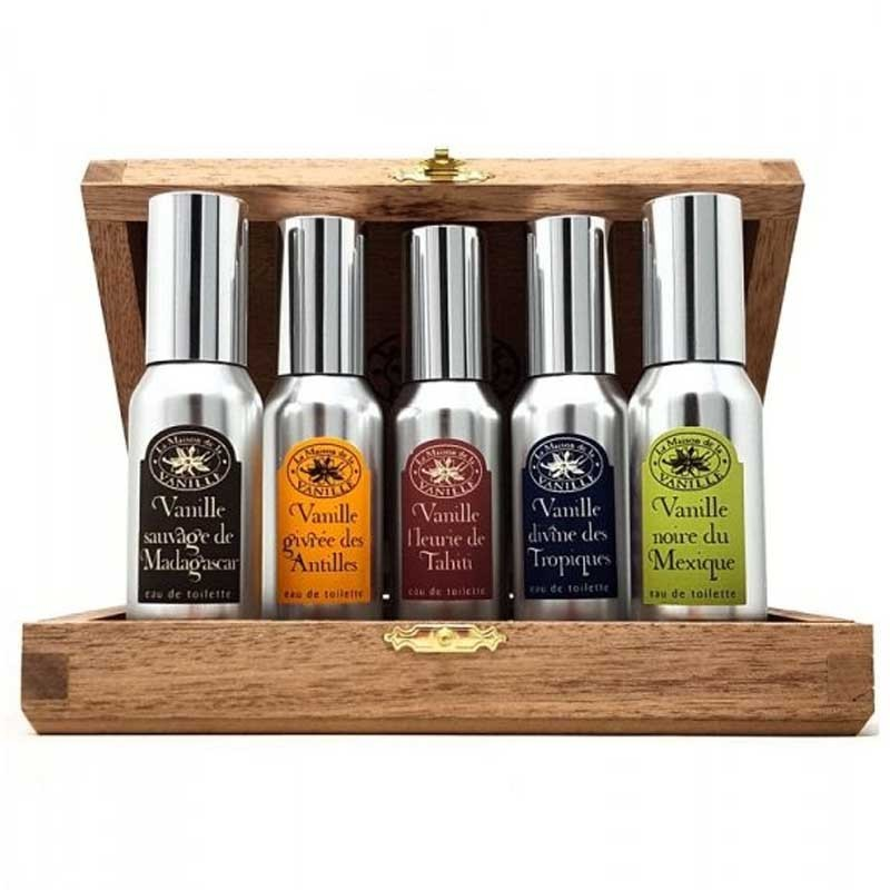 La Maison De La Vanille Edt (5 X 30ml) Wooden Box Set