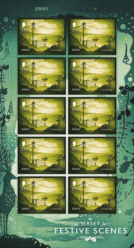 Jersey Festive Scenes - £1.05 Sheet of Ten