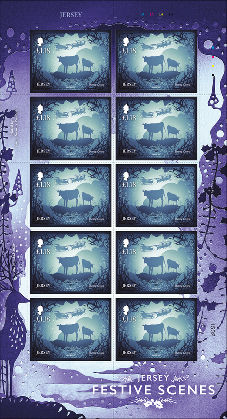 Jersey Festive Scenes - £1.18 Sheet of Ten