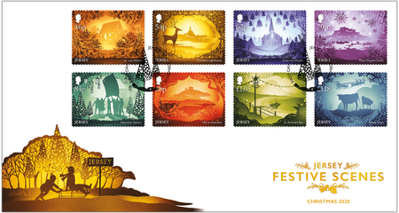 Jersey Festive Scenes - Stamps First Day Cover