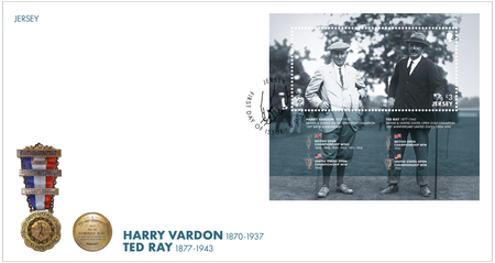 Harry Vardon - 150th Birth Anniversary - Miniature Sheet First Day Cover