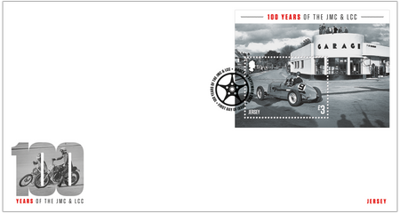 100 Years of the Jersey Motorcycle & Light Car Club - Miniature Sheet First Day Cover