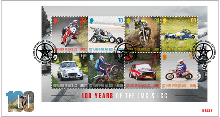 100 Years of the Jersey Motorcycle & Light Car Club - Souvenir Sheetlet First Day Cover