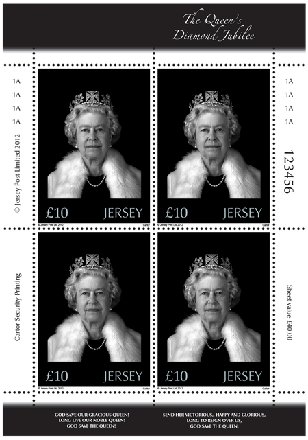 The Queen's Diamond Jubilee - Hologram Sheet of Four