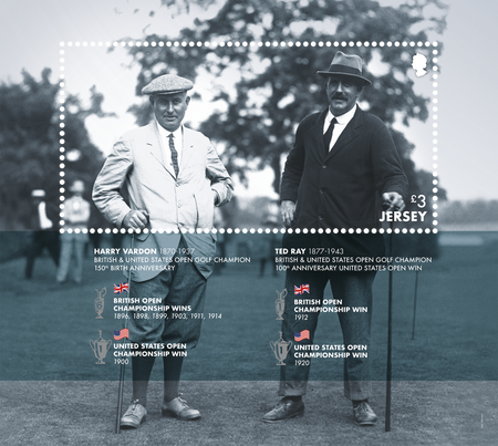 Harry Vardon - 150th Birth Anniversary - Miniature Sheet