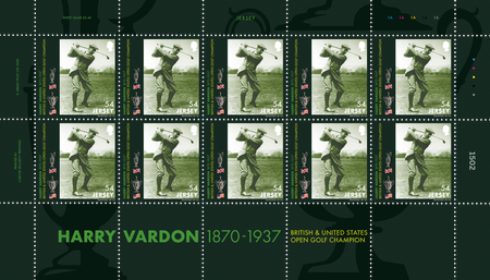Harry Vardon - 150th Birth Anniversary - 54p Sheet of Ten