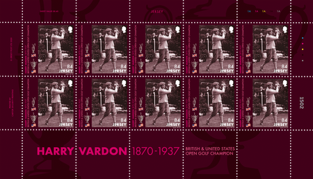 Harry Vardon - 150th Birth Anniversary - 84p Sheet of Ten