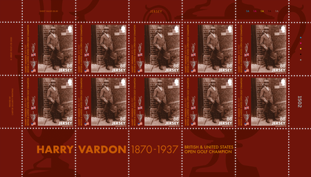 Harry Vardon - 150th Birth Anniversary - 88p Sheet of Ten