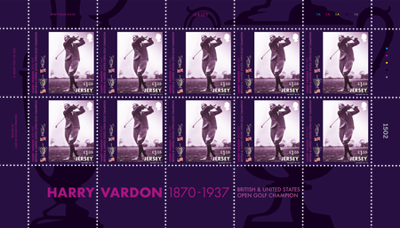 Harry Vardon - 150th Birth Anniversary - £1.05 Sheet of Ten