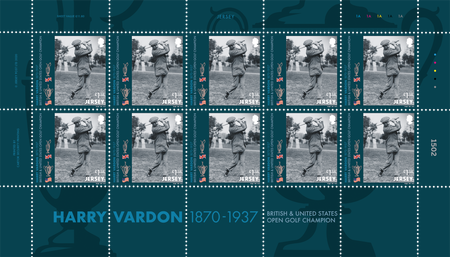Harry Vardon - 150th Birth Anniversary - £1.18 Sheet of Ten
