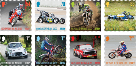 100 Years of the Jersey Motorcycle & Light Car Club - Stamp Set