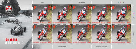 100 Years of the Jersey Motorcycle & Light Car Club - 54p Sheet of Ten