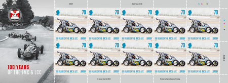 100 Years of the Jersey Motorcycle & Light Car Club - 70p Sheet of Ten