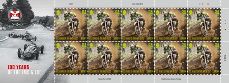 100 Years of the Jersey Motorcycle & Light Car Club - 84p Sheet of Ten