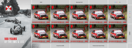 100 Years of the Jersey Motorcycle & Light Car Club - £1.50 Sheet of Ten