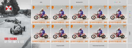 100 Years of the Jersey Motorcycle & Light Car Club - £2.92 Sheet of Ten