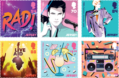 Popular Culture - The 1980s - Stamp Set