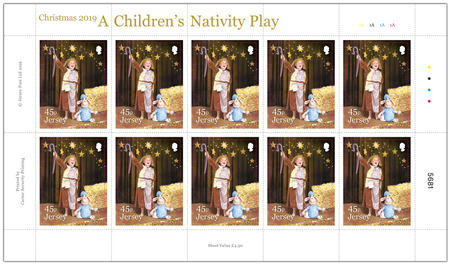 A Children's Nativity Play - 45p Sheet of Ten